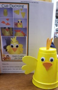 cup Duckling Craft @ Gowanda Free Library