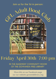 GFL Adult Book Club @ Gowanda Free Library - Community Room